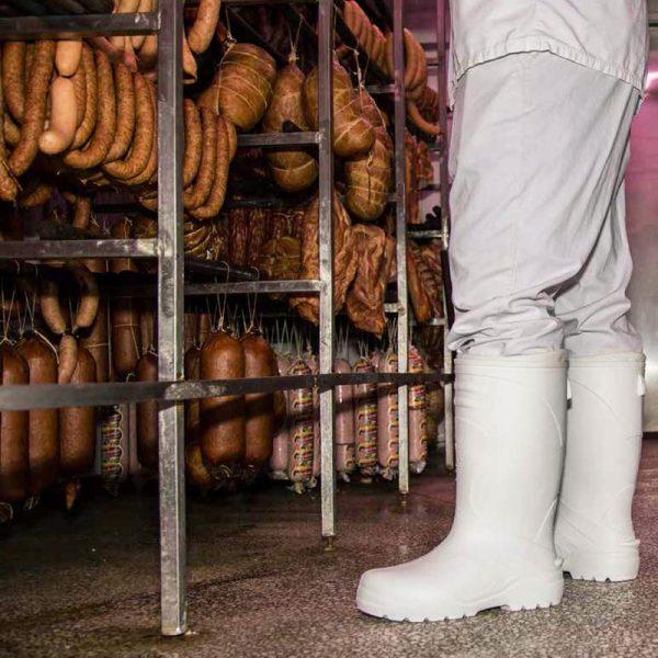 Farmer stivale bianco per il settore alimentare